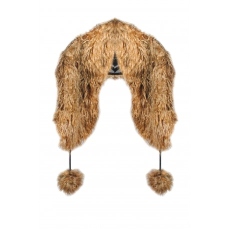 FUR STOLE- GOLDEN